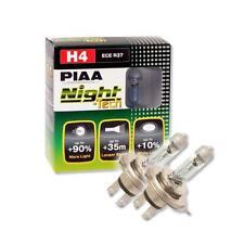 Genuine Piaa noche Tech H4 Halógeno Faro Bulbos Twinpack 12V 55W 110W