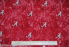 1/2 yd 100% cotton University of Alabama camouflage Crimson Tide Bama quilt sew