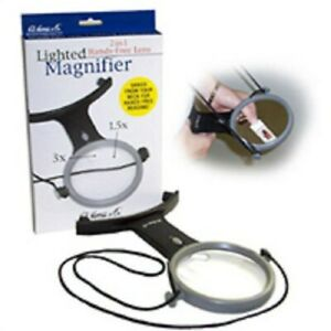 H.E. HARRIS 2-IN-1 HANDS-FREE 3'' 1.5X LENS MAGNIFIER