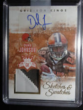 2015 Panini Gridiron Kings Duke Johnson Sketches & Swatches Auto Card 49/49