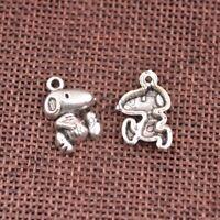 Wholesale 10Pcs Tibetan Silver Pistol Charms Pendants Jewelry 27x15MM Z154