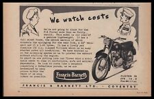 1958  FRANCIS BARNETT F-B Plover Motorcycle British UK AD