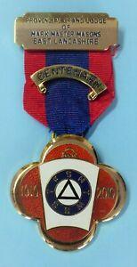 Masonic Silver Mark Lodge Centenary Jewel Provincial Grand Lodge East Lancashire