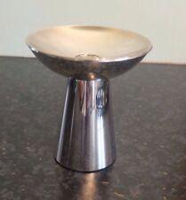 Used  vintage Habitat Akita silver mirrored candlestick holder