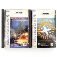Robotica & Revolution X (Sega Saturn) Complete Mint/Near Mint Discs Tested