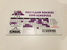 Portland Rockies 1999 Minor Baseball Magnet Schedule - G Loomis