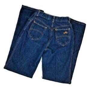Vintage 80's CHIC Mom Jeans 11 12 Dark Wash High Rise Straight 24 x 32