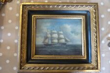 Old oil ship oil painting