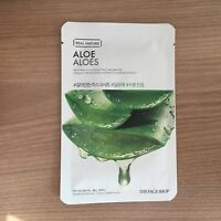 1SHEET THE FACE SHOP REAL NATURE ALOE HYDRATING FACE MASK PACK