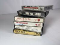 Vtg 80s/90s Cassettes Collection of 6 Red Hot Chili Peppers Elton David Bowie