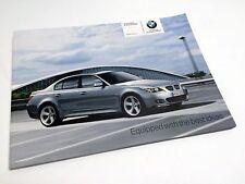 2008 BMW 5-Series 550 525 530 E60 E61 Accessories Brochure