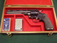PISTOL GUN PRESENTATION CASE WOOD BOX FOR COLT  DIAMONDBACK REVOLVER  SNAKE .357