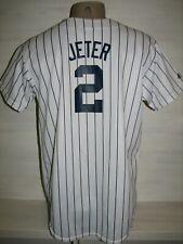 # 2 DEREK JETER NEW YORK YANKEES HOME MLB SHIRT JERSEY MAJESTIC SIZE S/M