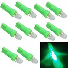 10X Green T5 12V LED Car Auto Wedge Dashboard DASH Gauge Light Lamp Bulb New LY