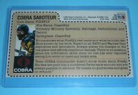 CUSTOM 1984 GI Joe Cobra Firefly Figure JCPenney Sears Uncut Red Back File Card