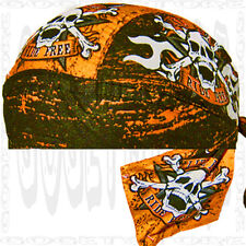 Ride Free Do Adult Sweat band SKULL CAP Du RAG Head Biker Doo Hat