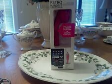 Hype - Deluxe Retro Handset for Select Mobile Phones Tablets and Laptops - Pink
