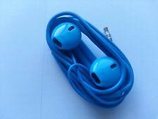 Blue Cell Phone Headphones Earphones Ear Pods for SmartPhone iPhone Head Set