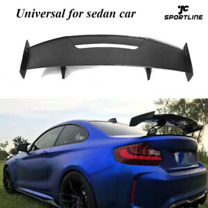 Carbon Fiber Rear Boot Spoiler Wing Fit For BMW AUDI Benz Volkswagen All Sedan