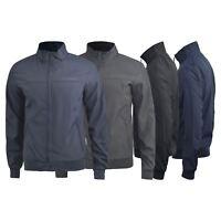 Mens Jacket Crosshatch Lightweight  Smartz Windbreaker Harrington Coat