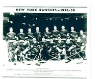 1938 1939 NEW YORK RANGERS 8X10 TEAM  PHOTO  HOCKEY NHL USA HOF