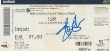 "Slash ""Guns N´Roses"" Autogramm signed Ticket Berlin 7.6.2010"