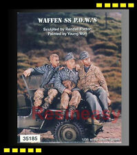 Rare Resin Kit warriors 1/35 WWII GERMAN WAFFEN SS P.O.W.'S for Jeep  WA35185