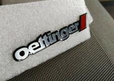 Badge Logo Oettinger alu brossé rouge Neuf