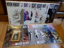 Moon Knight 1-14 Lemire Smallwood Marvel Complete Full Run Lot Set 2 3 4 5 6 7 8