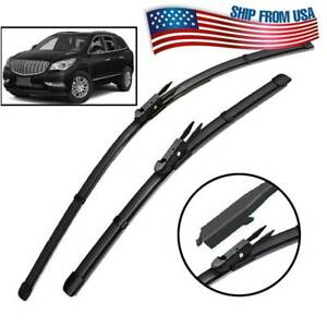 """24""""21"""" Front Windshield Wiper Blades For Buick Enclave MK1 Lucerne Rubber Refill"""
