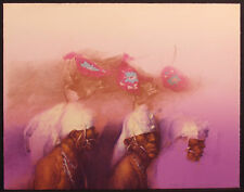 """Clifford Beck """"Pasqua Dancers St. I"""" Hand Signed Art Lithograph by Navajo Artist"""