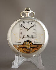 Magnificent Vintage Hebdomas Swiss 8 Jours days Pocket Watch Very Beautiful