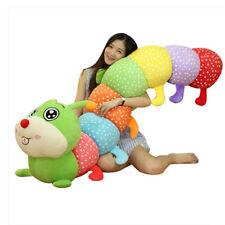 Huge Stuffed Plush Caterpillar Toys Soft Giant Colorful Animals Caterpillar Doll