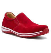 1cd6ea1a7bb9 Alegria Men s Aaron Sz US 14 M   EU 48 Red Suede Slip on Loafers Shoes