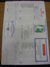 21/07/1990 Cricket Scorecard: Gloucestershire v Yorkshire [At Gloucester] Four D