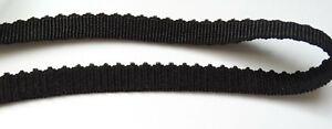 BH-Trägerband leicht gebogt, schwarz Gummi 12mm `K`