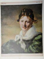 Woman with Scarf Jugend Magazine 1912 Issue 36 Jugenstil Art Nouveau graphics