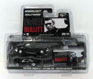 Greenlight 1/64 - 31020-B Dodge Charger Ram 2500 Hauler Steve McQueen Bullitt