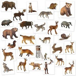 Bullyland Animal World Waldtiere Wald Tiere Spiel Figur Sammelfigur Bär Wolf