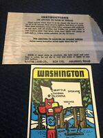 Vintage Baxter Lane Water Decal Travel Souvenir Washington Evergreen State NEW