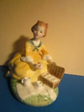 "Vintage Royal Doulton 4"" tall Figurine ""Picnic"" Hn2308 Bone China Copr 1964 Euc"