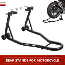 Motorcycle Bike Stand Rear Forklift Spoolift Paddock Swingarm Lift Auto Bike BLK