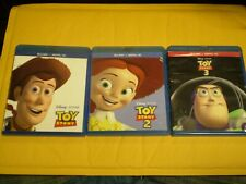 (3) Disney Pixar Toy Story Blu-Ray Disc Lot: Toy Story 1, 2 & 3 Tom Hanks