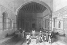 Syria, DAMASCUS SITTING ROOM DIVAN ~ 1836 Islam Architecture Art Print Engraving