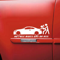 No Free Rides Gas Or Ass Funny Car Body Sticker Waterproof Truck Bumper Decal 1*