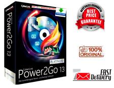 CyberLink Power2Go 13 Platinum ✅ CD ✅ DVD ✅ BLURAY✅ BURN RIP ✅SOFTWARE LIKE NERO