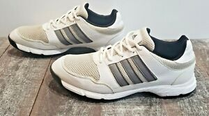 Adidas Tech Response 4.0 Traxion Mesh Golf Shoes- Men Size 10 - White/Gray/ Navy