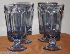 LIGHT BLUE FOSTORIA VIRGINIA ICE TEA WATER GLASSES LOT OF 4 UNUSED CONDITION