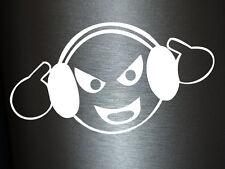 1 x 2 Plott Aufkleber Too Loud Smiley Zu Laut Bass Club Disco DJ Sticker Shocker