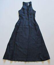 RACHEL by Rachel Roy Iridescent Blue High Neck A-line Sleeveless Midi Dress 0